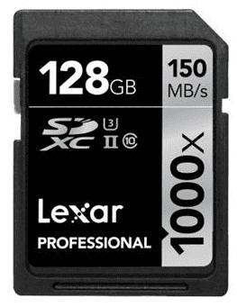 Lexar Professional 128GB SDXC 1000x UHS-II U3 Class 10