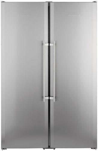 LIEBHERR SBSesf 7212, strieborná americká chladnička