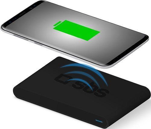 SBS Qi Fast Charge bezdrátová nabíjacia podložka, čierna
