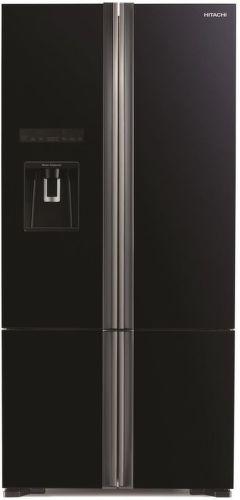 HITACHI R-WB730PRU6X-GBK, čierna americká chladička