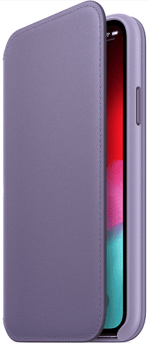 Apple kožené puzdro Folio pre Apple iPhone Xs, fialové