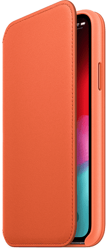 Apple kožené puzdro Folio pre iPhone Xs Max, oranžové