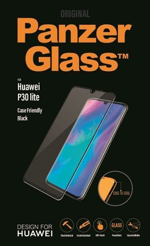 Panzerglass tvrdené sklo pre Huawei P30 Lite, čierna