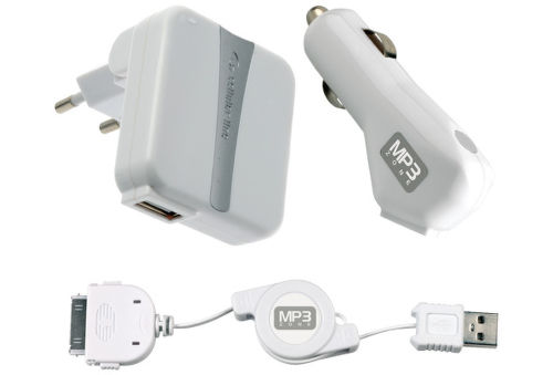 CELLULAR LINE Sada pre iPhone/iPod-nabíjačka cestovná + auto