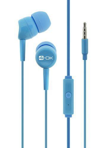 4-OK handsfree s 3,5 mm konektorom, modrá
