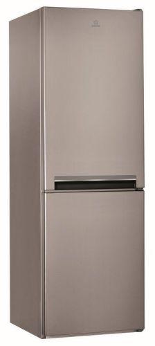 INDESIT LI7 S1 X, strieborná kombinovaná chladnička