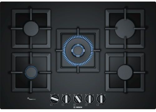 Bosch PPQ7A6B20 - čierna plynová varná doska