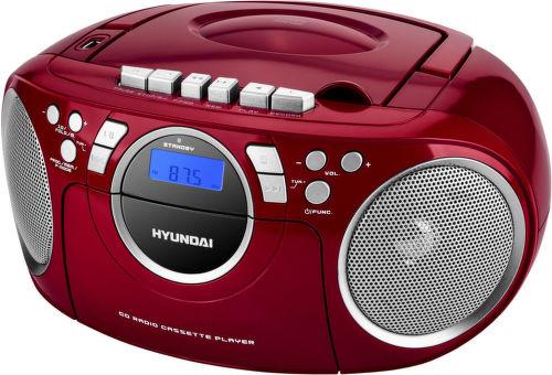 Hyundai TRC 788 AU3RS - rádiomagnetofón (červeno-strieborný)