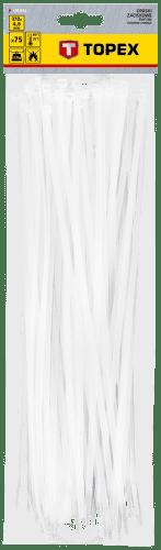 TOPEX 4,8 x 370 mm 75 ks, biela