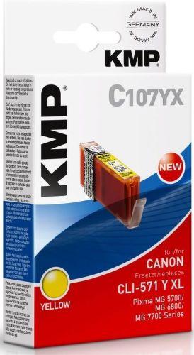KMP CLI571Y XL, C107YX recyk. náplň