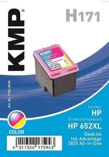 KMP HP 652Col XL, H171 recyk. náplň