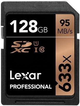 LEXAR 128GB SDHC 633x, Pamäťová karta