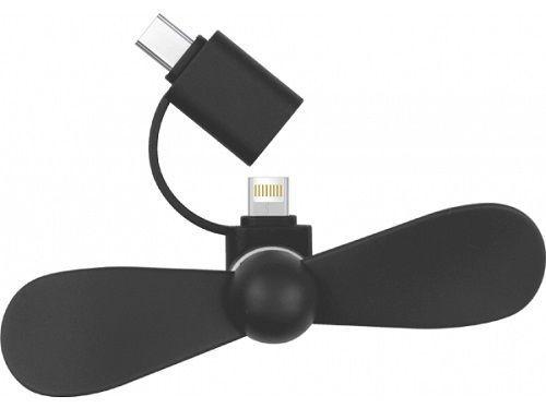 Bsmart ventilátor USB-C/Lightning, čierna