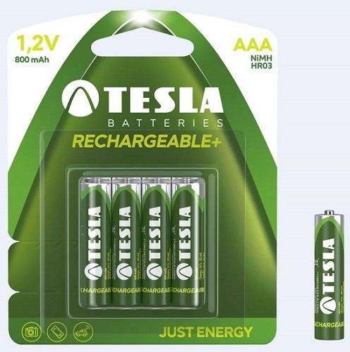 Tesla AAA Ni-MH 800 mAh nabíjateľná batéria (4 ks)