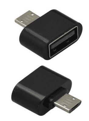 Mobilnet OTG microUSB adaptér, čierna