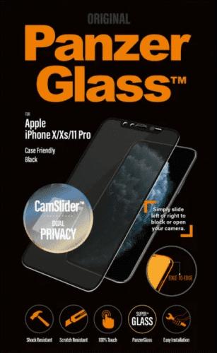 PanzerGlass Edge-to-Edge Privacy tvrdené sklo pre Apple iPhone 11 Pro/Xs/X, čierna