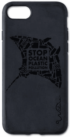 Wilma Matte Manta Eco puzdro pre Apple iPhone 6/6S/7/8, čierna