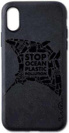 Wilma Matte Manta Eco puzdro pre Apple iPhone X/Xs, čierna