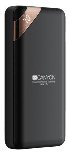 Canyon CNE-CPBP20B 20 000 mAh powerbanka, čierna
