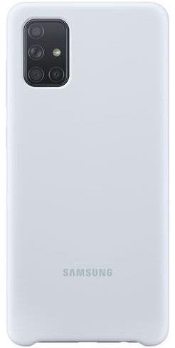 Samsung Silicone Cover pre Samsung Galaxy A71, strieborná
