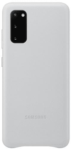 Samsung Leather Cover puzdro pre Samsung Galaxy S20, svetlá sivá