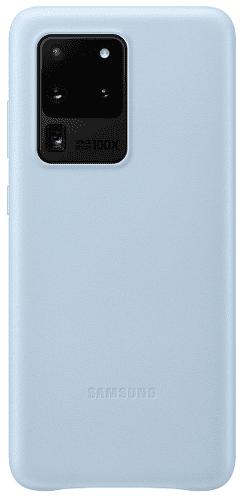 Samsung Leather Cover puzdro pre Samsung Galaxy S20 Ultra, modrá