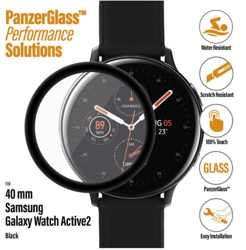 PanzerGlass ochranné sklo pre smart hodinky Samsung Galaxy Watch Active 2 40 mm