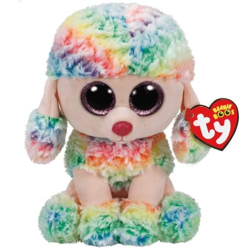 RAINBOW viacfarebný pudel 15 cm plyšová hračka