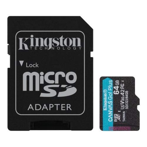 Kingston Canvas Go 64 GB mSDXC U3 V30 + SD Adaptér