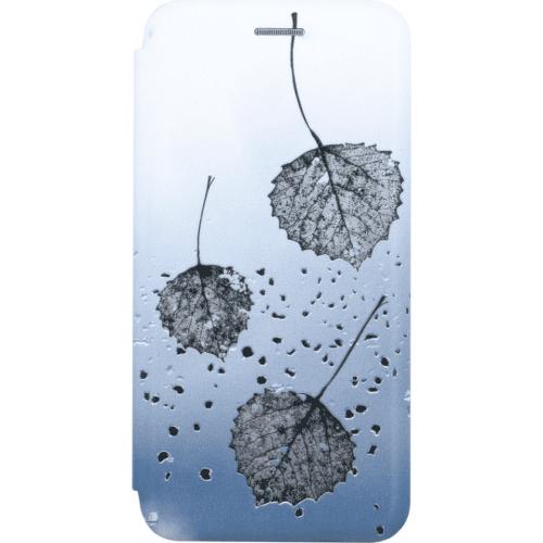 Winner Evolution 3D Leaves puzdro pre Samsung Galaxy A41 modro-sivá