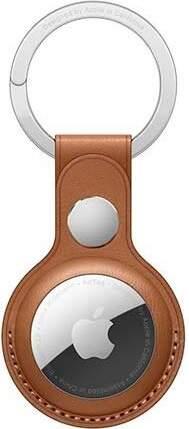 Apple AirTag kožená kľúčenka sedlovo hnedá