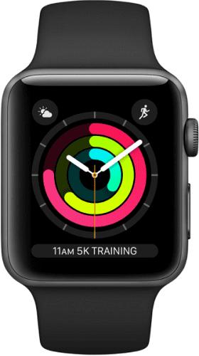 Renewd - Obnovené Apple Watch Series 3 38 mm vesmírne sivá/čierna