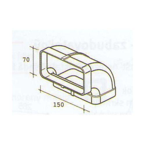 ELICA 1052 F, plastove rozvody 125mm