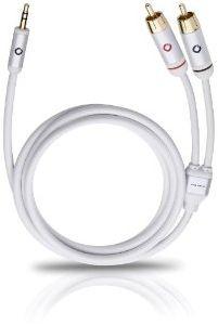 OEHLBACH 60001 i-Connect Jack - 2 RCA White 1,5m