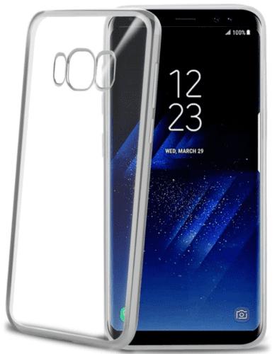 Celly Laser puzdro pre Galaxy S8, strieborné