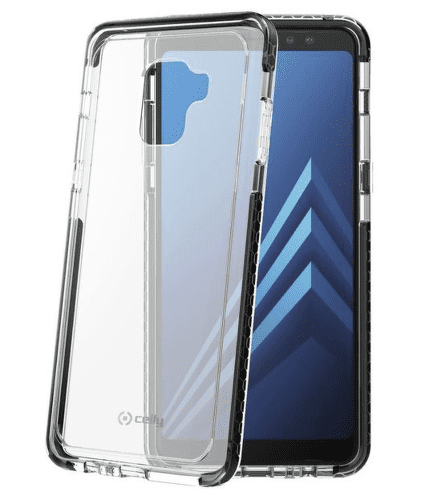 Celly Hexacon puzdro pre Galaxy A8+ 2018, čierne