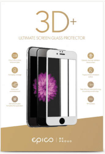 Epico 3D+ tvrdené sklo pre iPhone 8+/7+/6+, biele