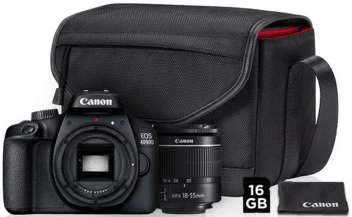 CANON 4000D18-55bag,16GB, Zrkadlovka