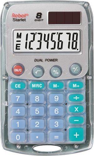 Rebell RE-Starlet BX vrecková kalkulačka transparentná