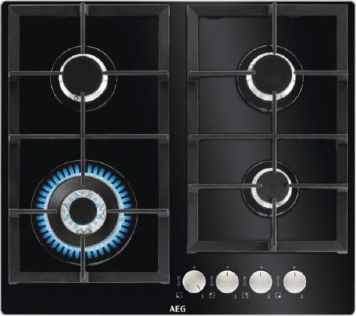 AEG HKB64440NB, čierna plynová varná doska