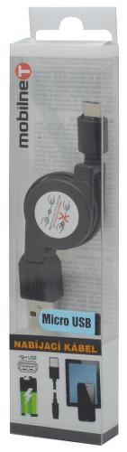 Mobilnet Micro USB kábel 0,8 m, čierna