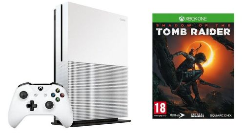 Microsoft Xbox One S 1TB + Shadow of The Tomb Raider