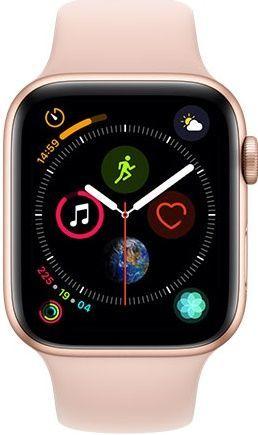 Apple Watch Series 4 44mm zlatý hliník/ružový športový remienok