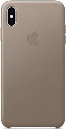 Apple kožené puzdro pre Apple iPhone XS Max, dymová
