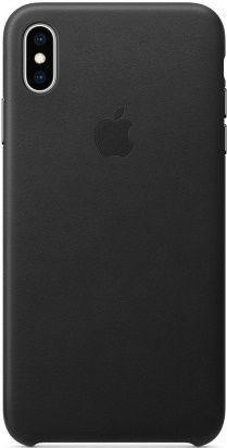 Apple kožené puzdro pre Apple iPhone XS Max, čierna