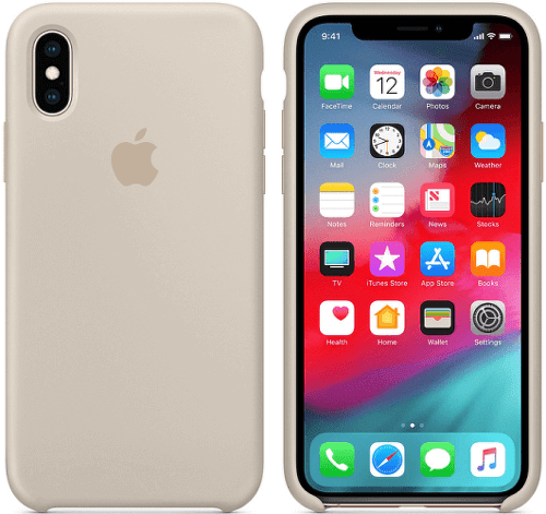 Apple silikónový kryt pre iPhone XS Max, kamenne sivý