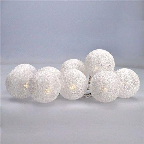 Solight 1V201 LED vianočné gule bavlnené