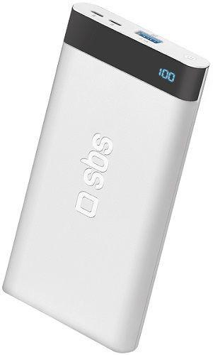 SBS powerbanka 5000 mAh USB/USB-C, biela