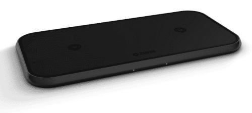 Zens Aluminium Duálna Qi 20 W bezdrôtová nabíjačka, čierna