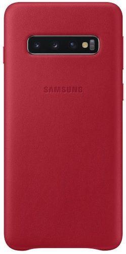 Samsung Leather Case pre Samsung Galaxy S10+, červená
